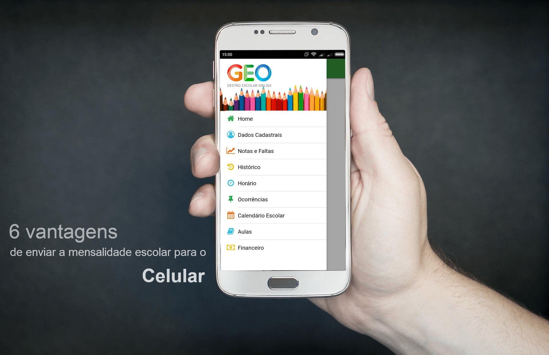mensalidade escolar para o celular